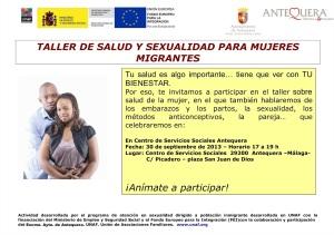 TALLER SEXUALIDAD PARA MUJERES MIGRANTES. 30/9/2013 EN LOS SERVICIOS SOCIALES DE 17 A 19HORAS