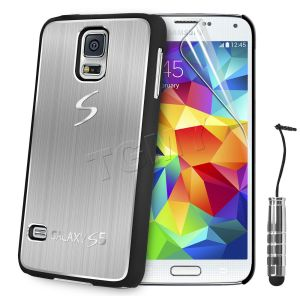 Carcasa Funda Tpu Para Samsung Galaxy S5 S4 S3 Mini S4 Mini Cepillado Aluminio (3)
